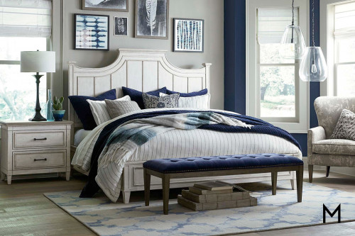 Bella King Panel Bed