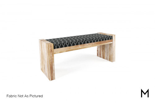 Rustic Upholstered Bench