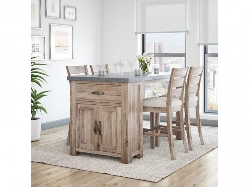 Rockhampton Storage Bar Set with Table and Four Stools