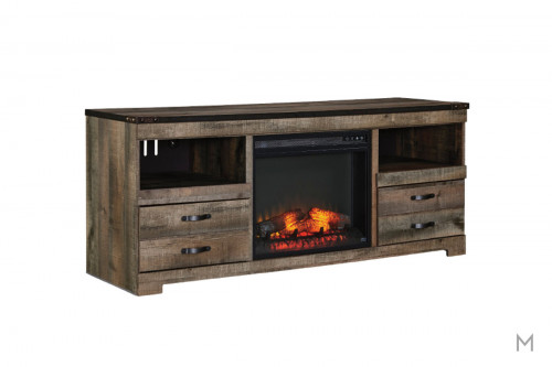 Trinell TV Stand with Fireplace with Storage Drawers