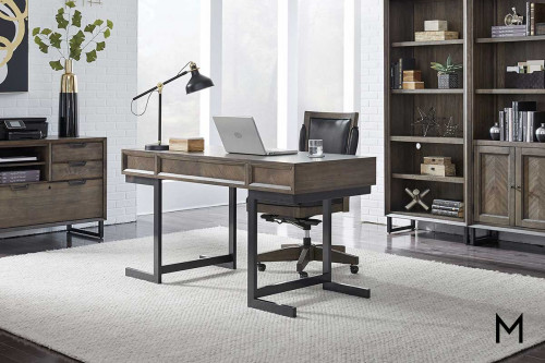"Harper Point 60"" Writing Desk with Drawers"