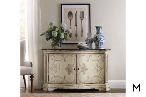 Auberose Two Door Buffet with Blue Stone top