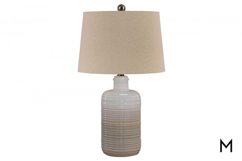Marnina Table Lamp with Taupe Shade