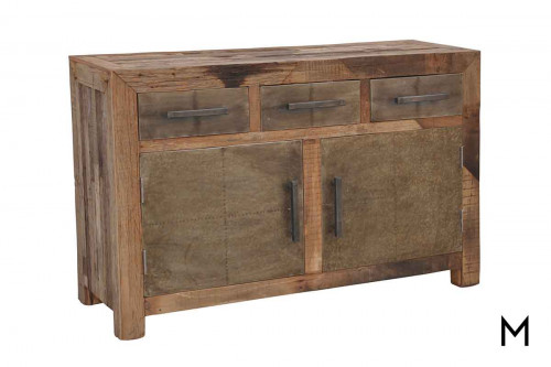 M Collection Industrial Foundation Sideboard with 3 Drawers and 2 Doors