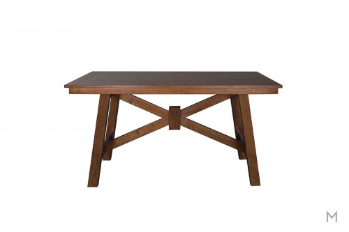 Creations II Dining Table in Black and Tobacco
