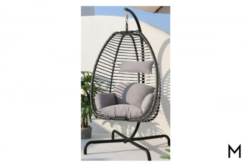 Outdoor Hanging Chair with Cushions