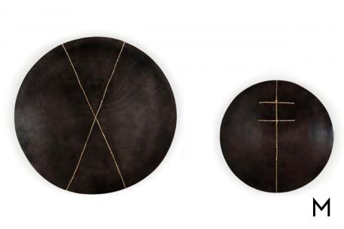 Liva Wall Decor in Distressed Brown Iron