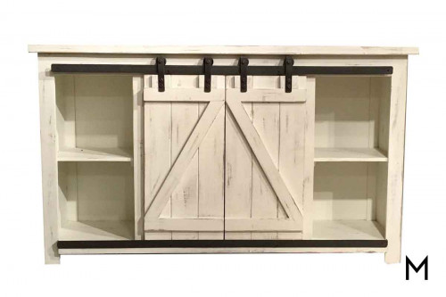 M Collection Media Console with Sliding Doors