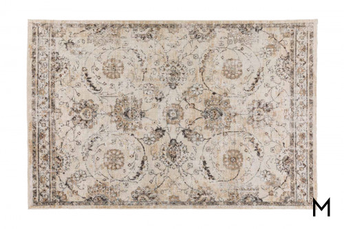 Ivory Floral Area Rug 8'x10'