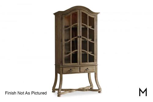 Corsica Acacia Display Cabinet in Espresso