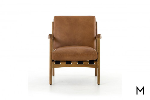 Wooden Chair with Leather Cushions