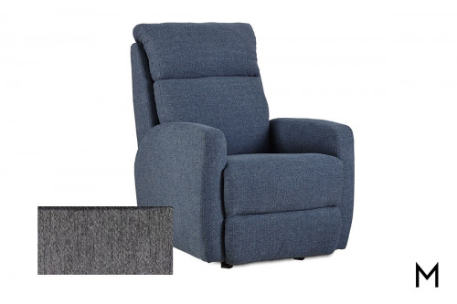 M Collection Primo Upholstered Recliner in Adele Graphite