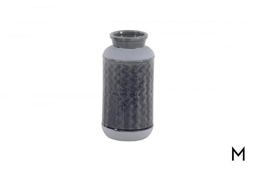 Decorative Blue Glazed Ceramic Vase