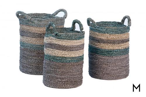 Natural Seagrass Basket Set of Three