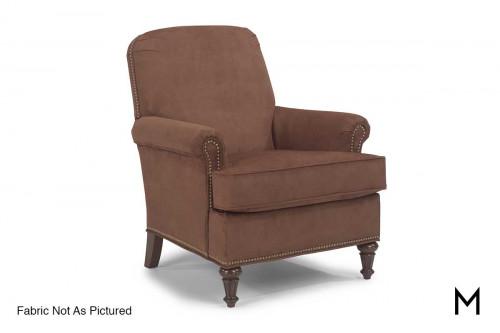 Flemington Accent Chair in Black with Antique Bronze Nailhead Trim