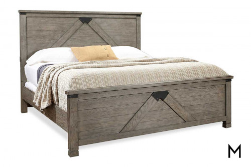 Tucker 4 Piece Queen Bedroom Set with Bed, Dresser, Mirror and Nightstand