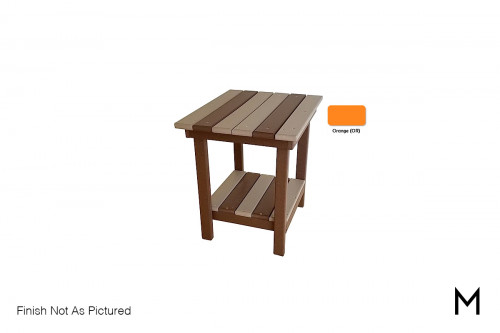 Outdoor End Table in Orange