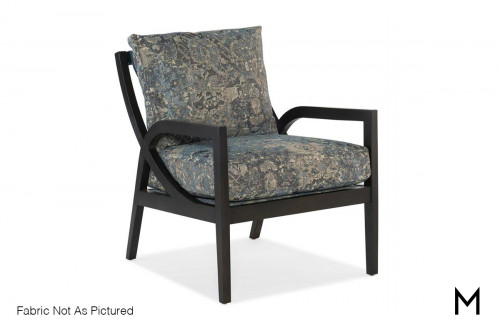 Vortex Exposed Wood Chair in Gray Fabric