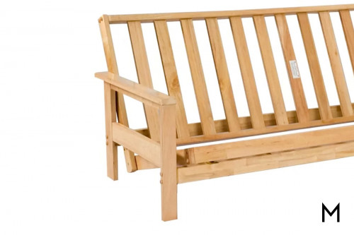 Albany Futon Frame in Solid Hardwood
