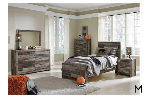 Derekson Barnwood Twin Bed