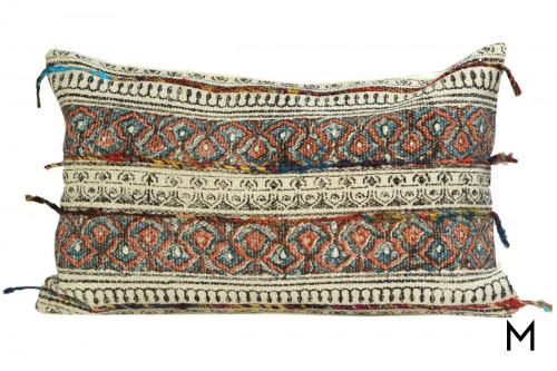 Boho Floral Lumbar Pillow