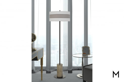 Jumilla Floor Lamp with Wood and Metal Base