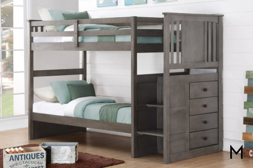 Stairway Bunk Bed with Built-In Storage Drawers