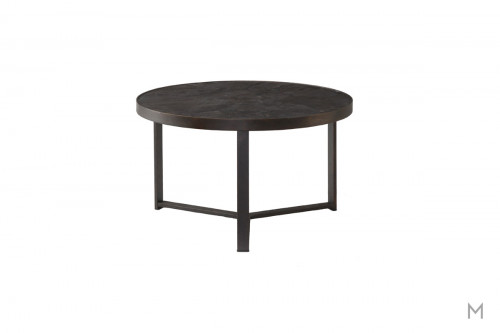 Carmen Medium Bunching Coffee Table featuring Mixed Metal and Stone
