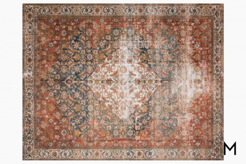 Layla Area Rug 5'x8' in Ocean and Multi