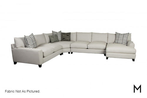 Casual 4-Piece Sectional Sofa