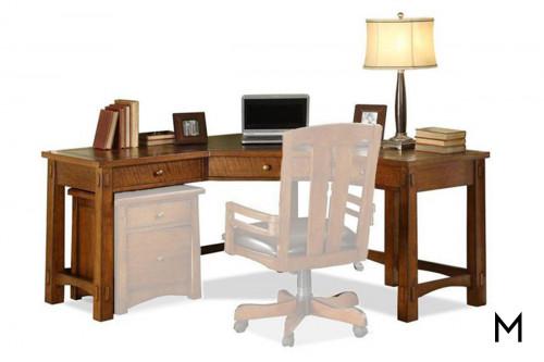 Riverside Oak Corner Desk