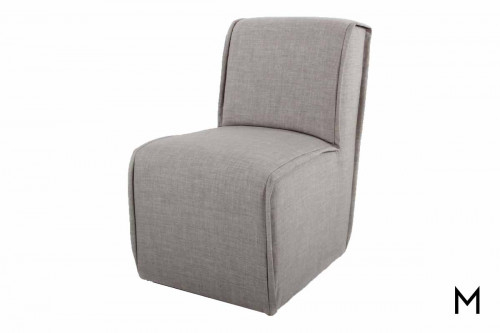 Parsons Chair Slipper Dining Chair with Fluted Welts