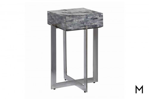 Calvin Bone Accent Table in Gray