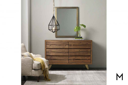 Transcend 6 Drawer Dresser made of Acacia Wood