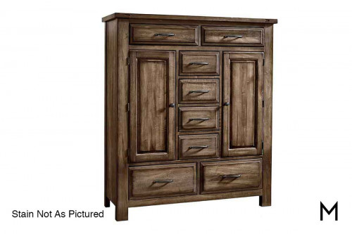Artisan Choices Sweater Chest in Dark Oak finish