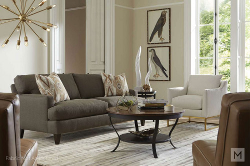 Skyler Gold Frame Accent Chair in Evergreen