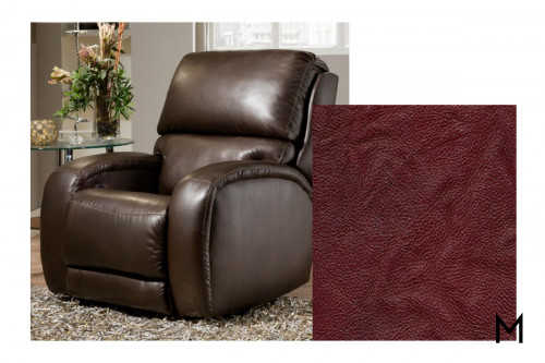 M Collection Fandango Power Rocker Recliner in Alfresco Marsala