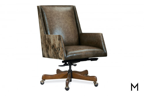 Leather Executive Swivel Desk Chair
