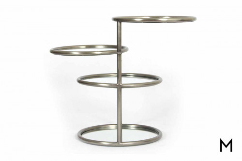 Quincy Side Table in Antique Brass