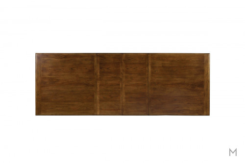 "Archivist 86"" Rectangular Trestle Dining Table with Two 18"" Leaves"