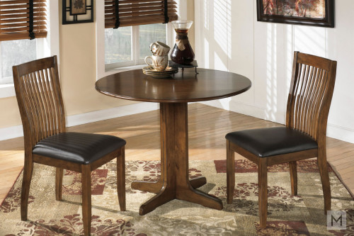 Stuman Drop Leaf 3 Piece Dining Set with 2 Chairs