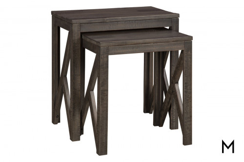 Farmhouse Two-Piece Nesting Table Set