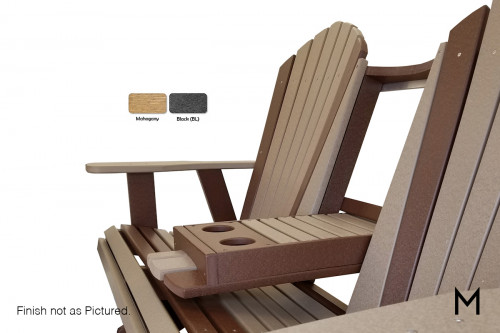 Adirondack Settee Swing with A-Frame