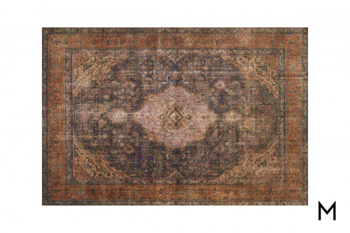 Loren Plum Area Rug 5'x7' in 5' x 7'6""
