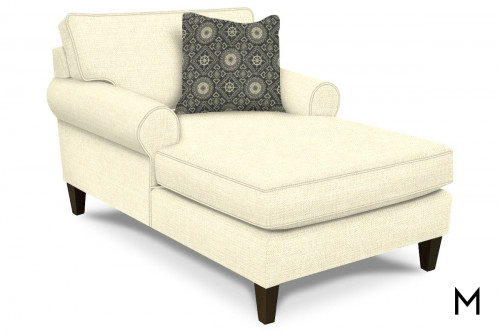 Chaise Lounge with Accent Pillow