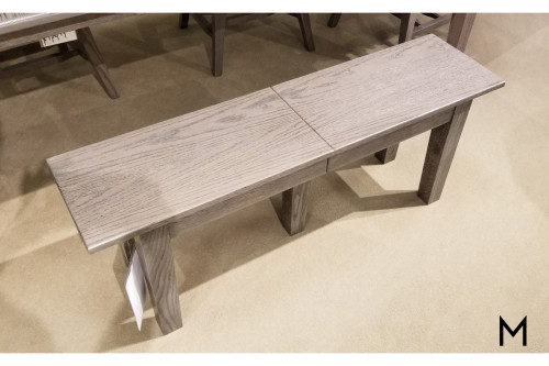 "Extendable Dining Bench with Two 12"" Leaves"