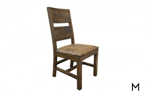Urban Art Dining Chair with Upholstered Seat