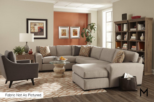 Contemporary 3-Piece Chaise Sectional Sofa