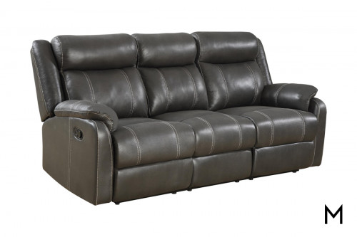 Domino Reclining Sofa with Drop Center Tray
