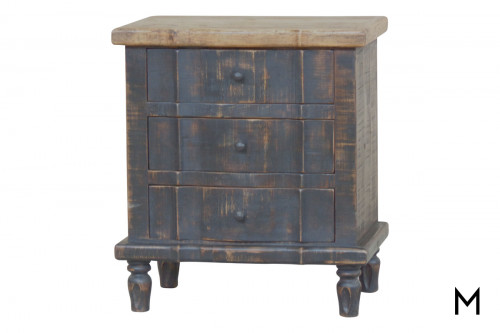 M Collection Cara 3-Drawer Nightstand